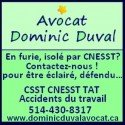 Dominic Duval - Avocat ( CNESST CSST Accident de travail )